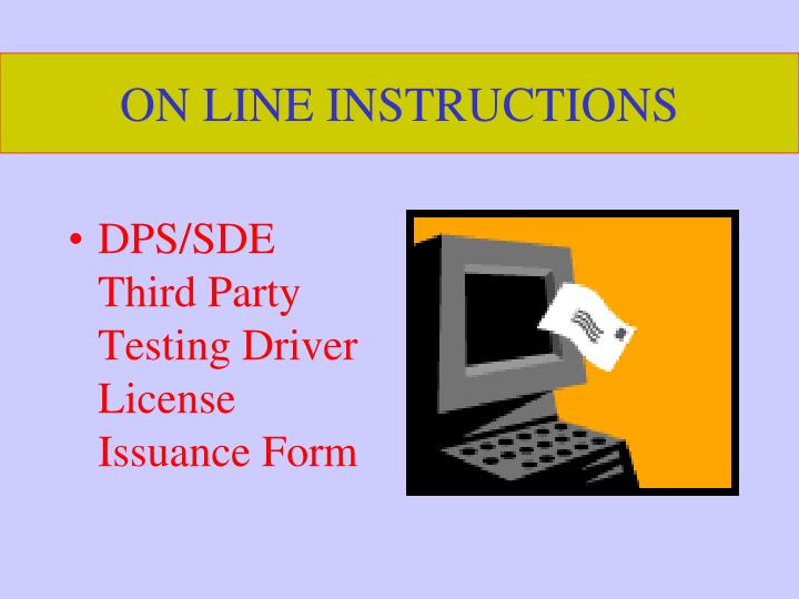 on line instructions n.