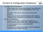 content configuration databases