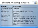 strumenti per backup restore