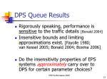 dps queue results