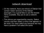 network download