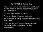 several file systems