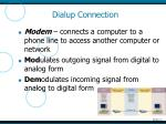 dialup connection