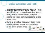 digital subscriber line dsl