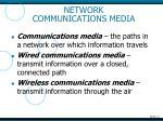 network communications media