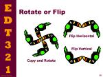 rotate or flip