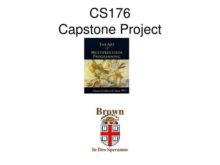 cs176 capstone project n.