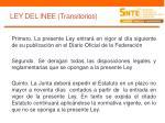 ley del inee transitorios