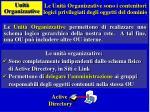unit organizzative
