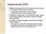 implementasi dsa
