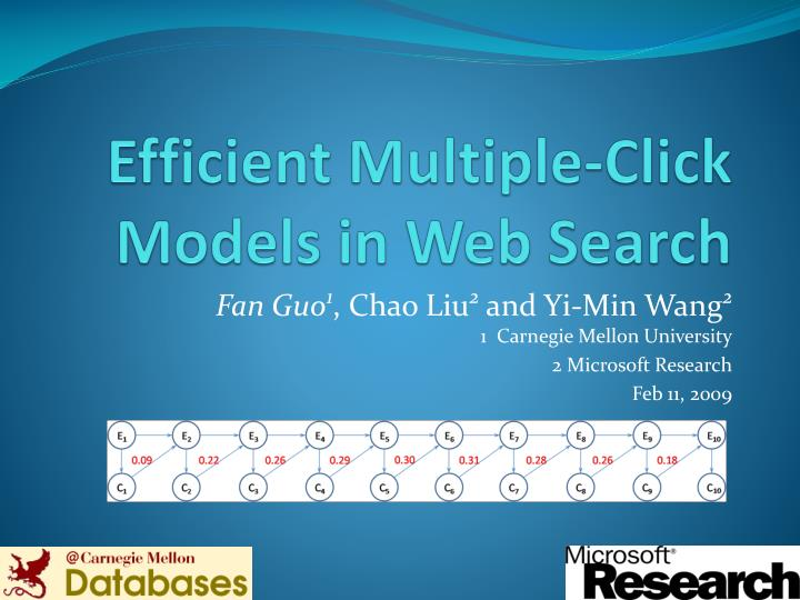 efficient multiple click models in web search n.