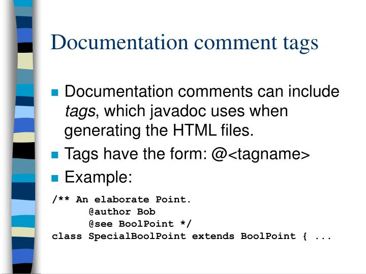 Documentation comment tags