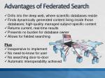 advantages of federated search