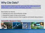 why cite data
