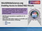 worldwidescience org enabling access to global r d results