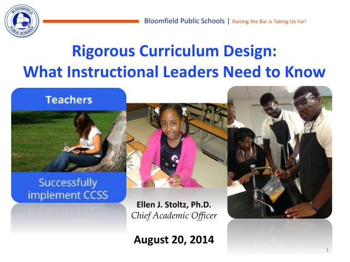 Rigorous curriculum design what instructional leaders need to know