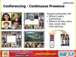 conferencing continuous presence