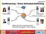 conferencing voice activated switching