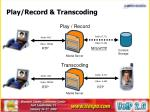 play record transcoding