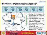 services decomposed approach
