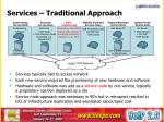 services traditional approach