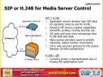 sip or h 248 for media server control