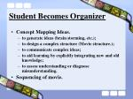 student becomes organizer