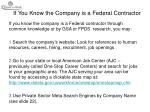 if you know the company is a federal contractor