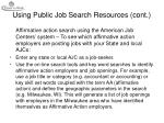 using public job search resources cont