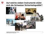 auf welche sieben instrumente st tzt sich die schweizer sicherheitspolitik