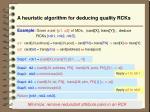 a heuristic algorithm for deducing quality rcks1