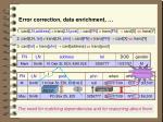 error correction data enrichment