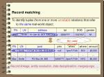 record matching