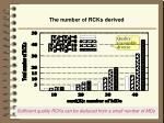 the number of rcks derived
