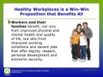 healthy workplaces is a win win proposition that benefits all