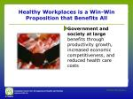 healthy workplaces is a win win proposition that benefits all2