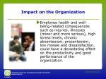 impact on the organization1