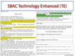 sbac technology enhanced te