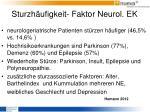 sturzh ufigkeit faktor neurol ek2