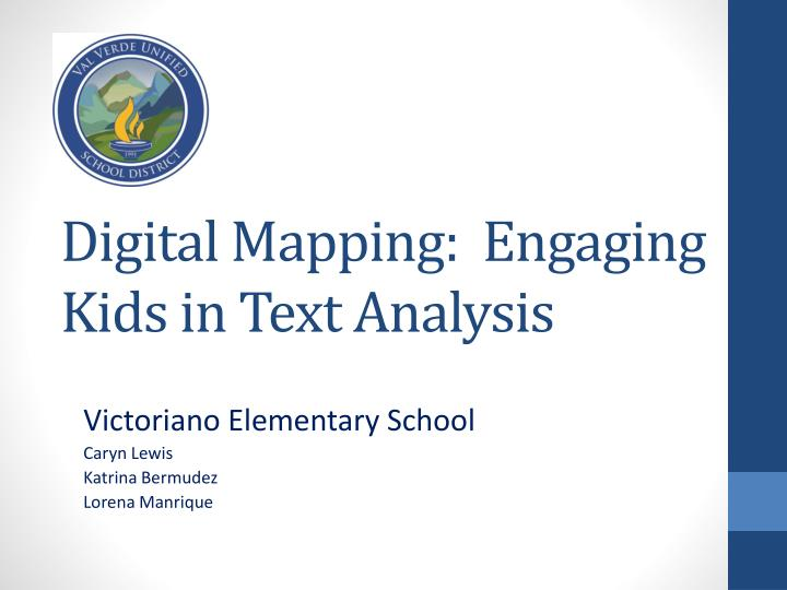 digital mapping engaging kids in text analysis n.