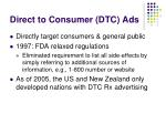 direct to consumer dtc ads