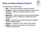 what is evidence based practice