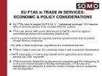 eu ftas in trade in services economic policy considerations