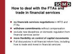 how to deal with the ftas and trade in financial services