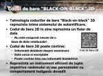 codul de bare black on black 2d