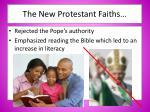 the new protestant faiths