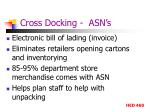 cross docking asn s