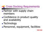 cross docking requirements