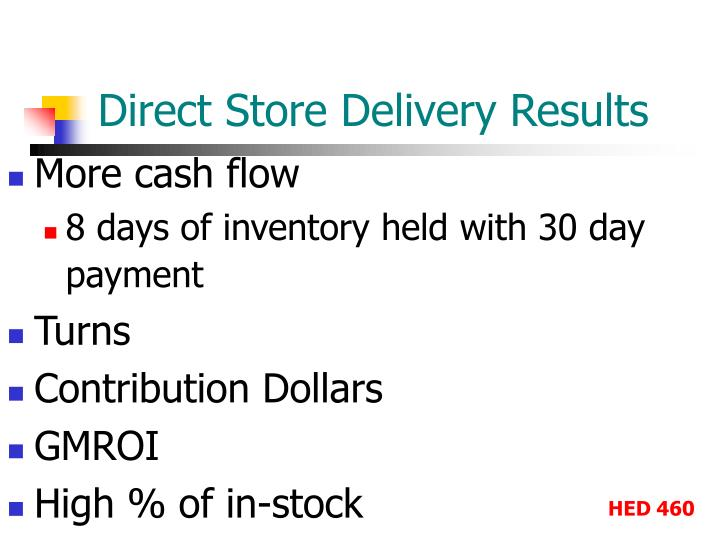 Direct Store Delivery Results