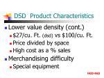 dsd product characteristics2